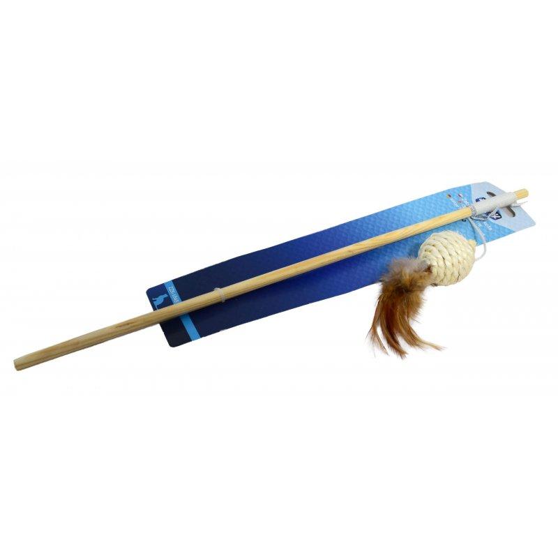 Zabawka dla kota kulka z piórkiem zippy