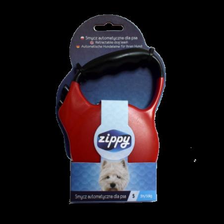 Smycz automat. premium dla psa czerwona zippy XS
