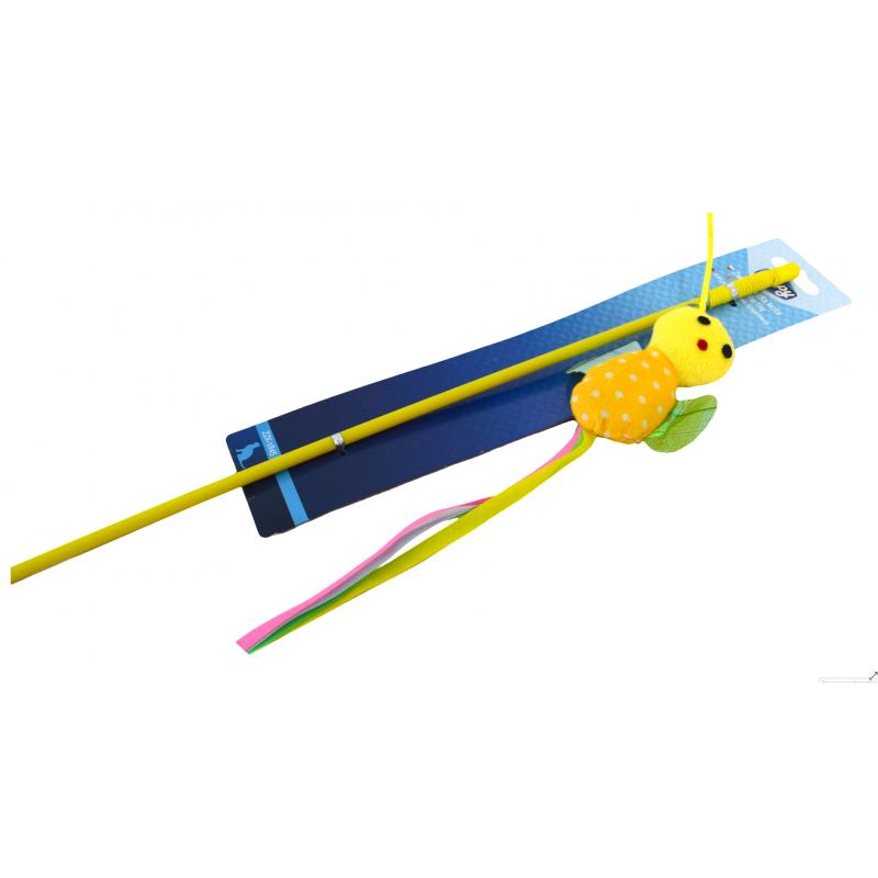 Zabawka dla kota pszczółka + patyk zippy