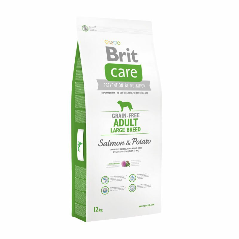 Brit Care Grain Free Adult Large Breed Salmon and Potato 12 kg