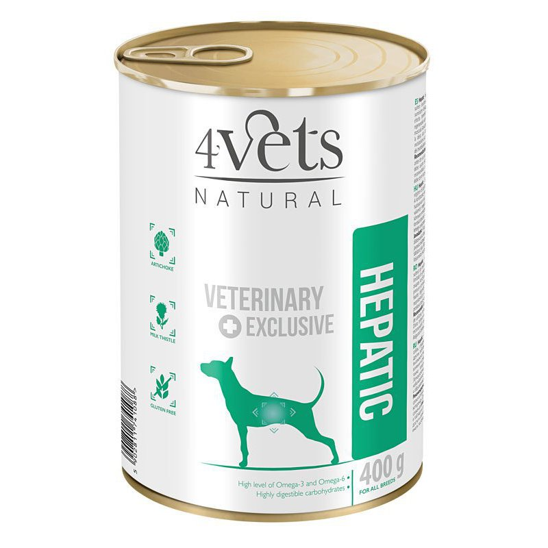 4Vets Naturals Hepatic Dog 400 g Puszka