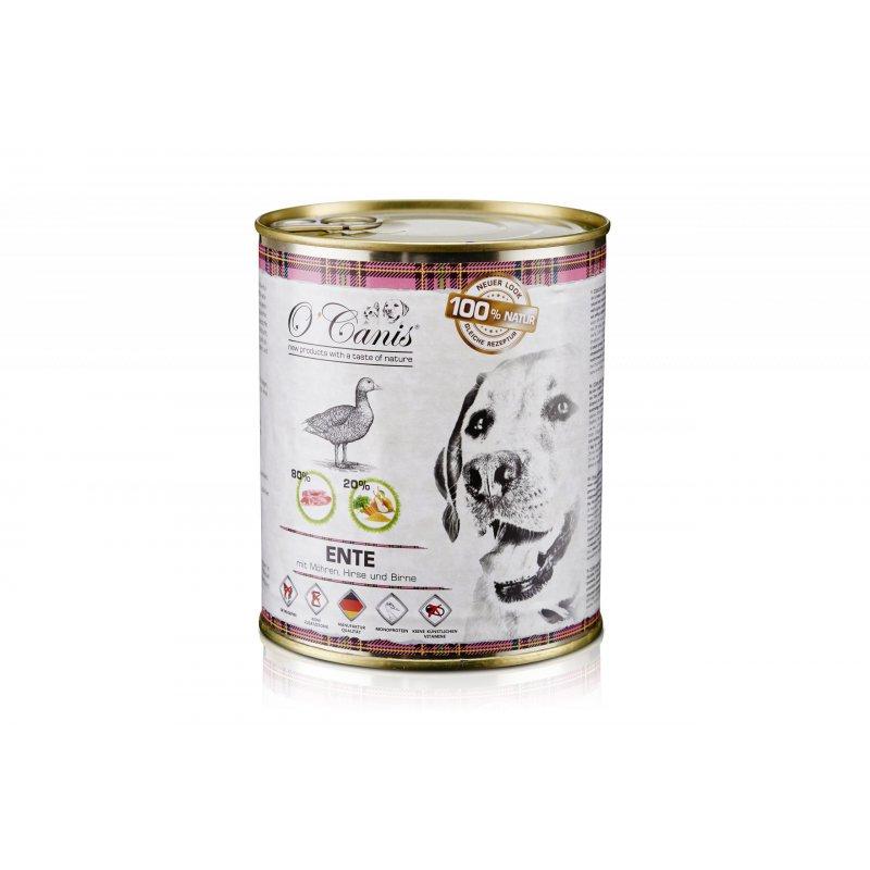 O'Canis Kaczka z marchewką, prosem i gruszką 800 g