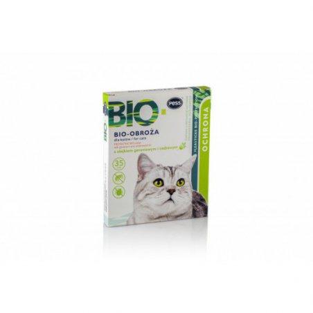 Bio-Obroża z Olejkiem geraniowym dla kotów 35 cm