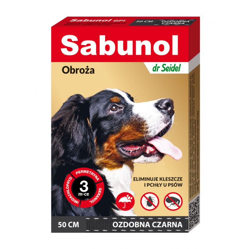 Sabunol Obroża dla Psa Czarna 50 cm